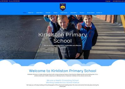 Kirkliston Primary School Web Design Edinburgh Scotland UK