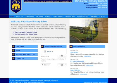 Kirkliston-Primary-School Web Design Edinburgh