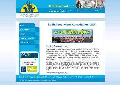 LBA charity Web Design Edinburgh