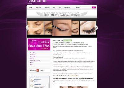 LashClinic Web Design Edinburgh