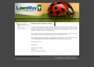 LawnWay gardening Web Design Edinburgh