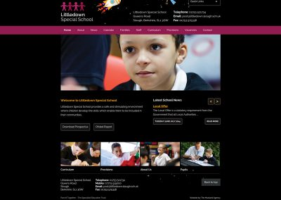 Littledown-Special School Web Design Edinburgh