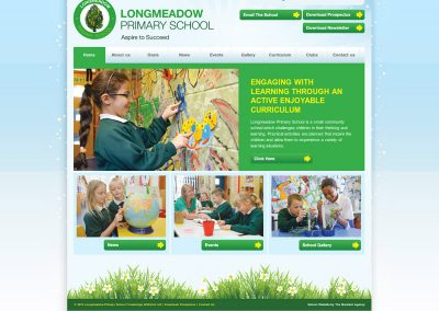 Longmeadow Primary School Web Design Edinburgh