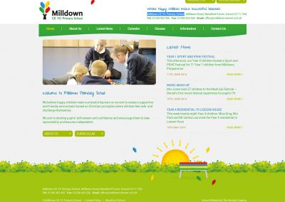 Milldown-CE-VC-Primary-School Web Design Edinburgh