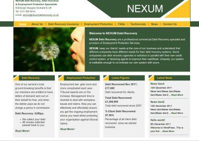 Nexum Finance Web Design Edinburgh