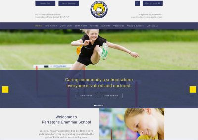 Parkstone-Grammar-School Web Design Edinburgh