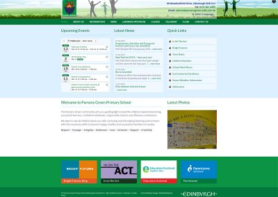 Parsons-Green-Primary-School Web Design Edinburgh