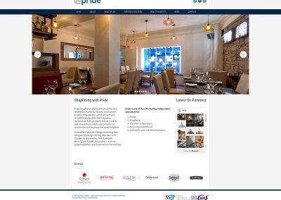 Pride-Shopfitting Web Design Edinburgh