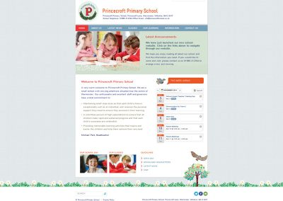 Princecroft-Primary School Web Design Edinburgh