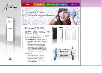 Princess FIller health & beauty Web Design Edinburgh