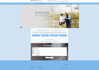 Ridgewood-Community-High-School Web Design Edinburgh