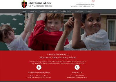 Sherborne-Abbey-School Web Design Edinburgh