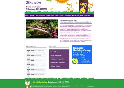 SkooIisOut after school club Web Design Edinburgh