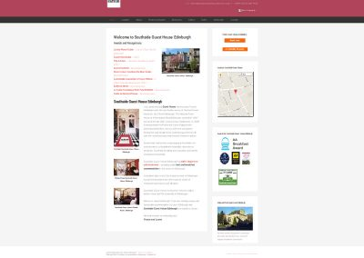 Southside-Guest-House Web Design Edinburgh