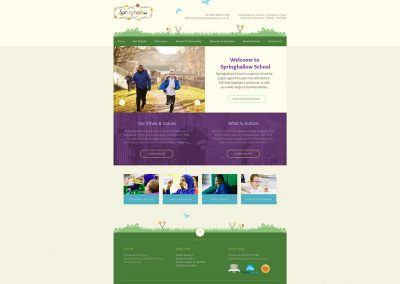 Springhallow-School Web Design Edinburgh