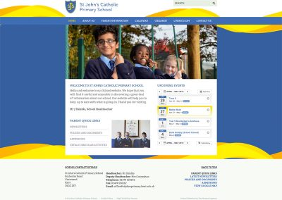 St-Johns-Catholic-Primary-School Web Design Edinburgh