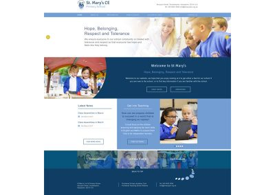 St-Marys-C-of-E-Primary-School Web Design Edinburgh