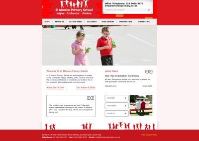 St-Monica-Primary School Web Design Edinburgh