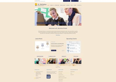 St-Nicholas-Secondary-School Web Design Edinburgh