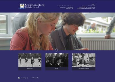 St-Simon-Stock-Catholic-School Web Design Edinburgh