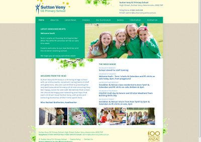 SuttonVeny School Web Design Edinburgh