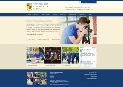 Testbourne-Community School Web Design Edinburgh