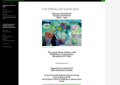 The-Spring-Art-Show Web Design Edinburgh