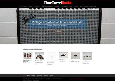Time-Travel-Audio Ecommerce Web Design Edinburgh
