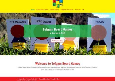 Tofgam-Board-Games-Ecommerce Web Design Edinburgh
