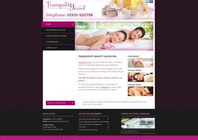 Tranquility-Yeovil- Spa Web Design Edinburgh