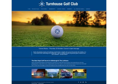 Turnhouse-Golf-Club Web Design Edinburgh