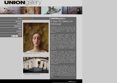 Union Gallery Web Design Edinburgh