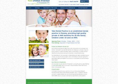 Vale-Dental- dentists Web Design Edinburgh