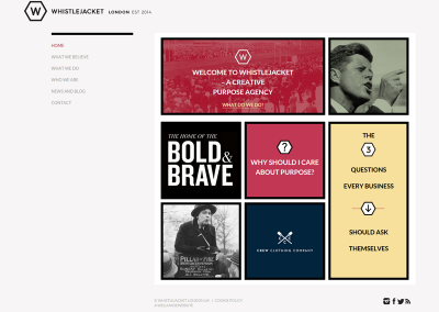 Whistlejacket-London-Purpose-Agency Web Design Edinburgh