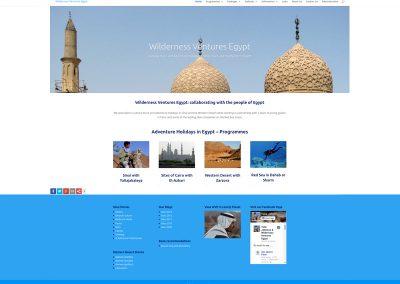 Wilderness-Ventures-Egypt-Holiday Web Design Edinburgh