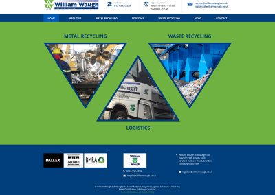 William-Waugh-Metal-Recycling-Logistics Web Design Edinburgh