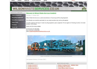 WilsonWasteRecycling Web Design Edinburgh