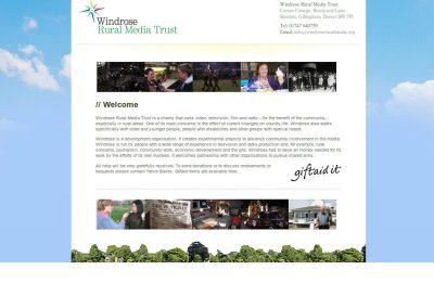 Windrose Rural Media Trust Web Design Edinburgh