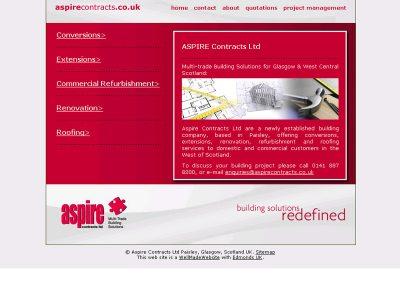 aspire Construction Web Design Edinburgh