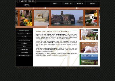 barns ness Hotel Web Design Edinburgh.