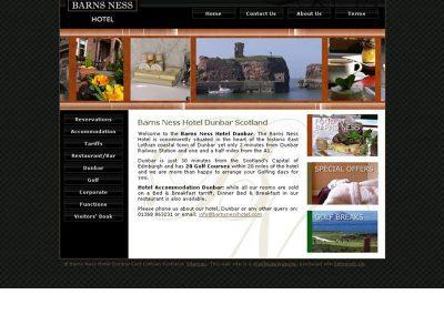 barns-ness hotel Web Design Edinburgh