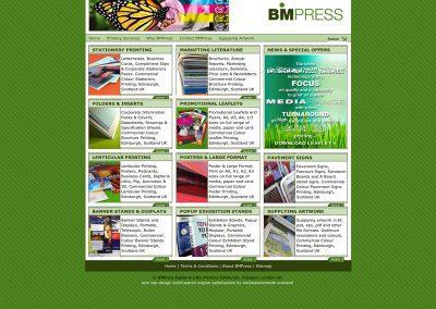 bmpress Ecommerce Web Design Edinburgh.