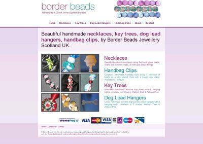 borderbeads-necklaces Web Design Edinburgh