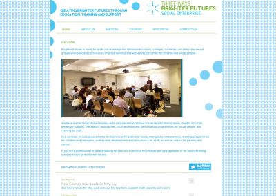 brighter-futures school Web Design Edinburgh