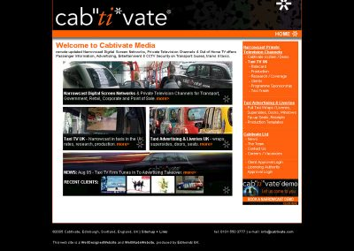 cabtivate Holiday Travel Web Design Edinburgh