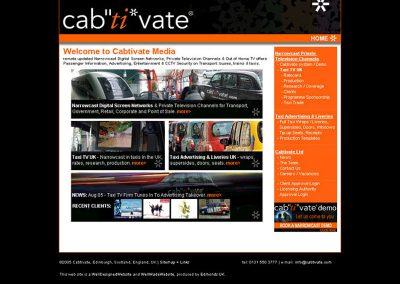 cabtivate Travel Web Design Edinburgh
