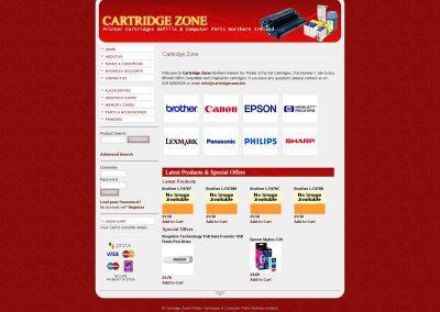 cartridgezone ecommerce Web Design Edinburgh