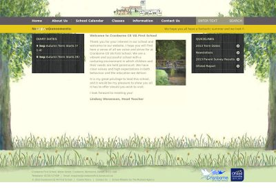 cranbornefirst School Web Design Edinburgh