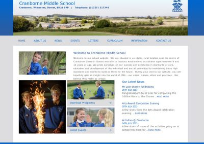 cranbornemidSchool Web Design Edinburgh