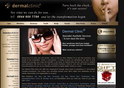 dermalclinic health & Beauty Web Design Edinburgh